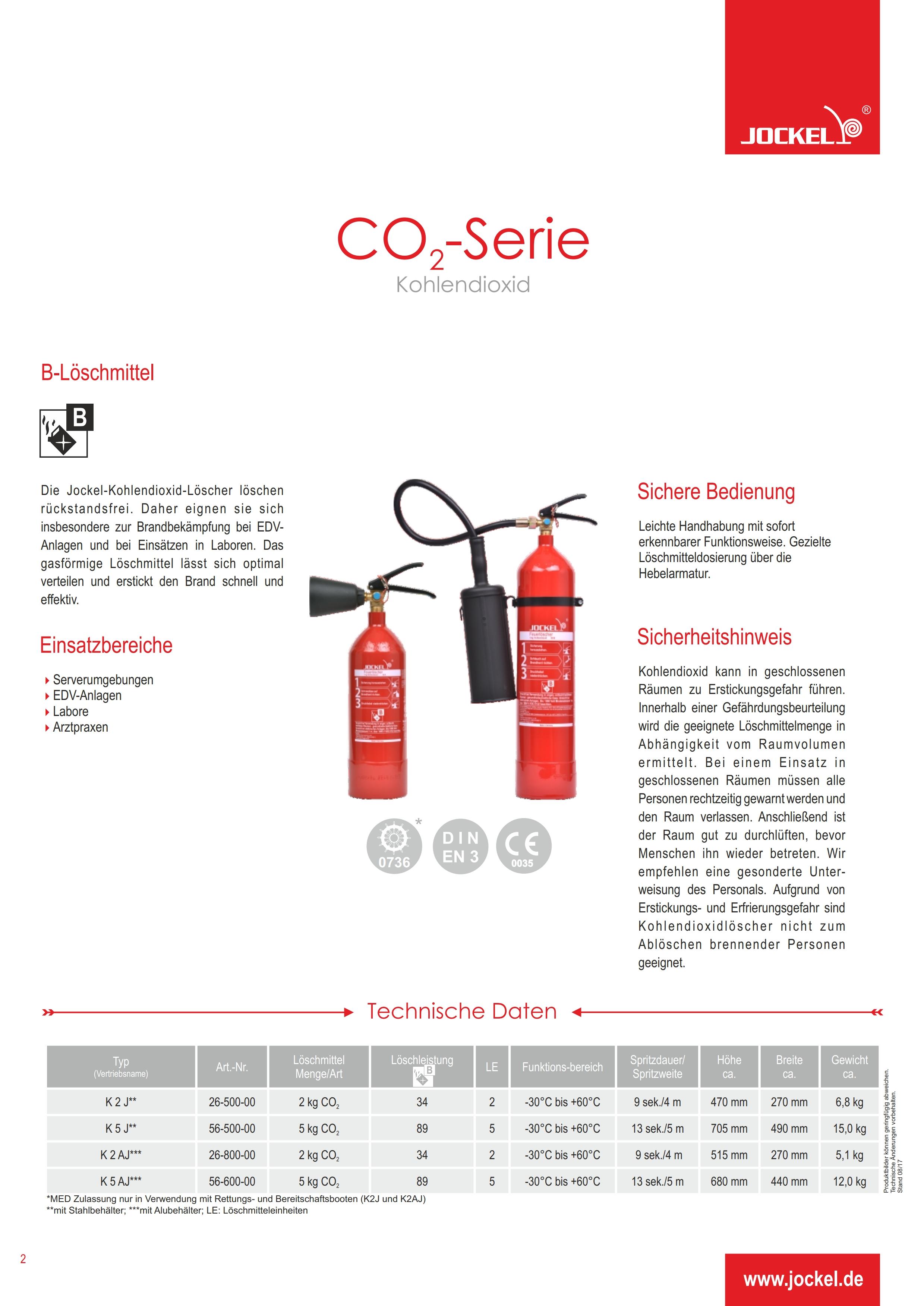 Datenblatt Co2 Feuerlöscher