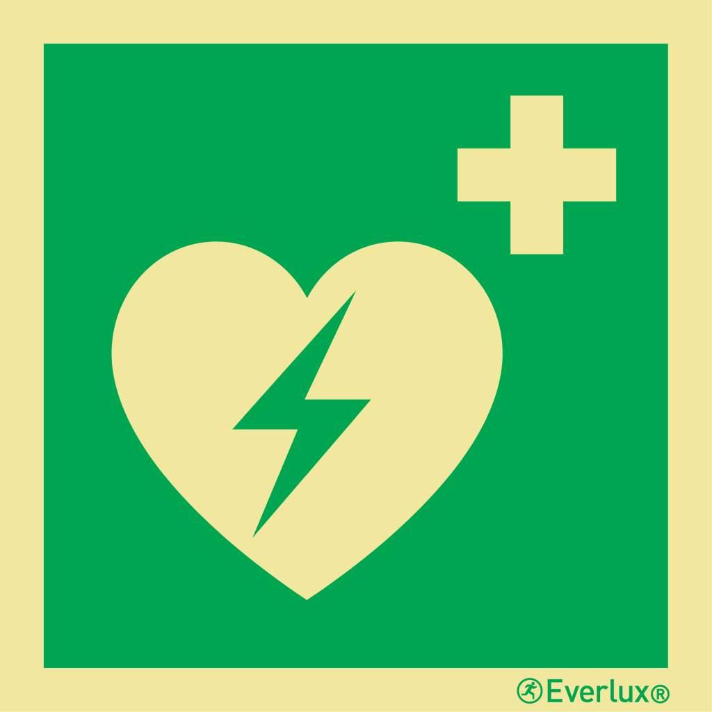 Rettungszeichen Symbole Defibrillator